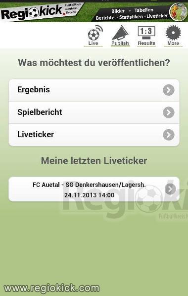 Regiokick Live Die Ticker App Fur Dein Fussball Portal